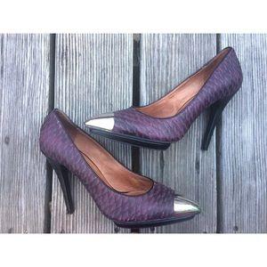 Jeffrey Campbell Purple Bullet Ex Shoes sz 9 Heels
